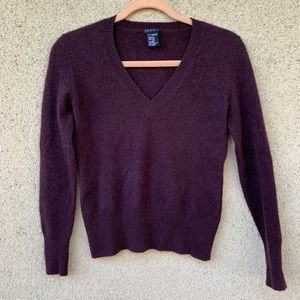 Theory 100% cashmere brown sweater v neck Small